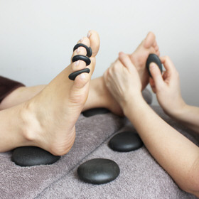 Hot Stone Reflexology – relax and float away…