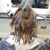 Sanita hair dying 7