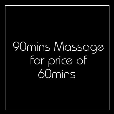 90 minutes massage for the price of an Hour - Church Street