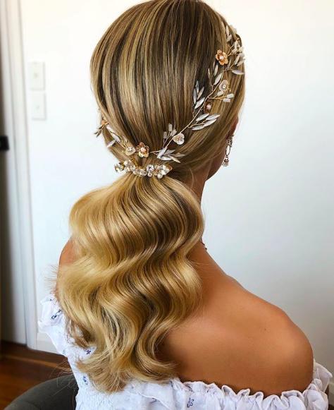 Wave Bridal Ponytail