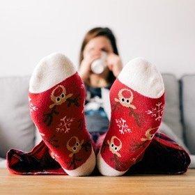 SH Christmas Feet UP