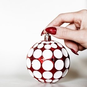 SH Christmas nails glitter ball