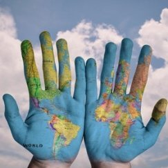 SH Health Hands World Map
