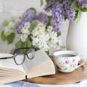 SH Health book and flowers